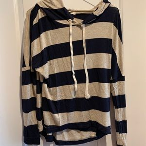 Tops - Rugby Blue and Cream Strip Shirt NWOT